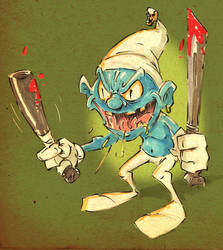 The Return of Stabby Smurf by jusscope