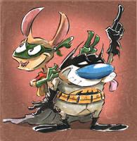 Stimpson J Bat N Boy Hoek by jusscope
