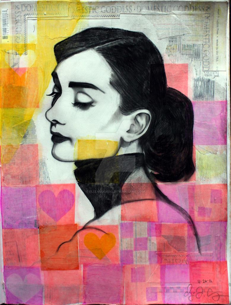 Audrey Hepburn by elizaloobbq