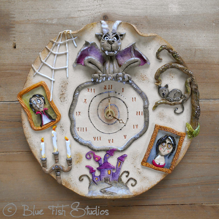 Gothic Halloween Clock by Lucykite