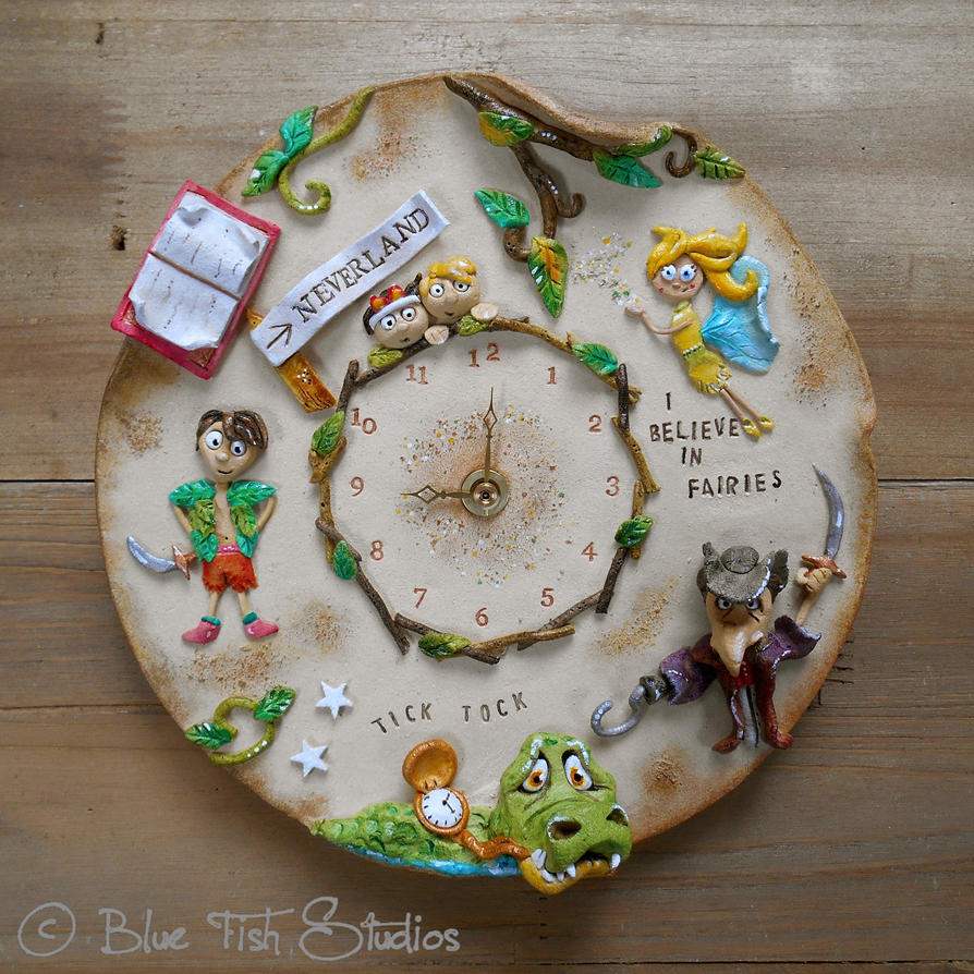 Peter Pan Clock by Lucykite