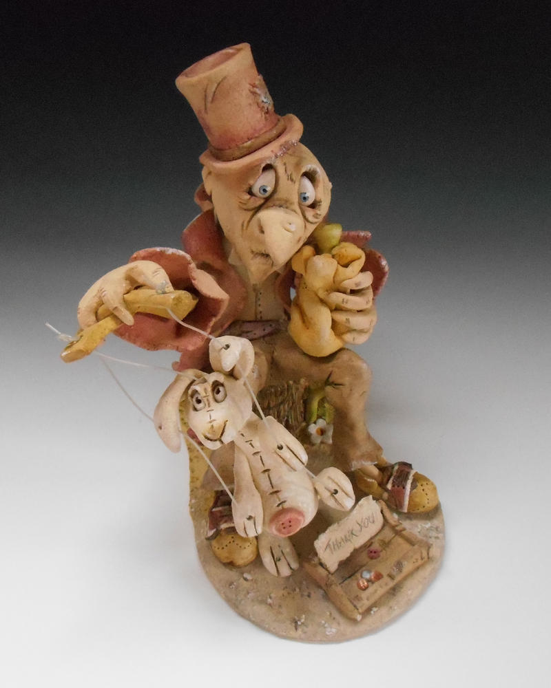 The Puppeteer - ceramic sculpture by Lucykite
