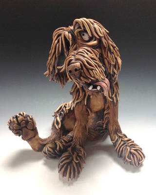 Watson the Dog Ceramic Sculpture by Lucykite