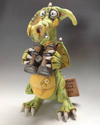 Dragon Sculpture - Ceramic 'Gus' by Lucykite