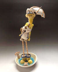 Duck Sculpture - Ceramic Willard