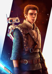 Cal Kestis - BD-1 - STAR WARS Jedi Fallen Order