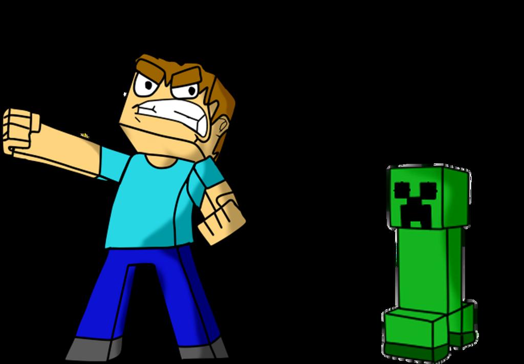 Minecraft steve creeper by cristianatilio24h on deviantart - Minecraft creeper and steve ...