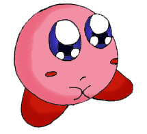 Creepily Cute Kirby by Bombkirby