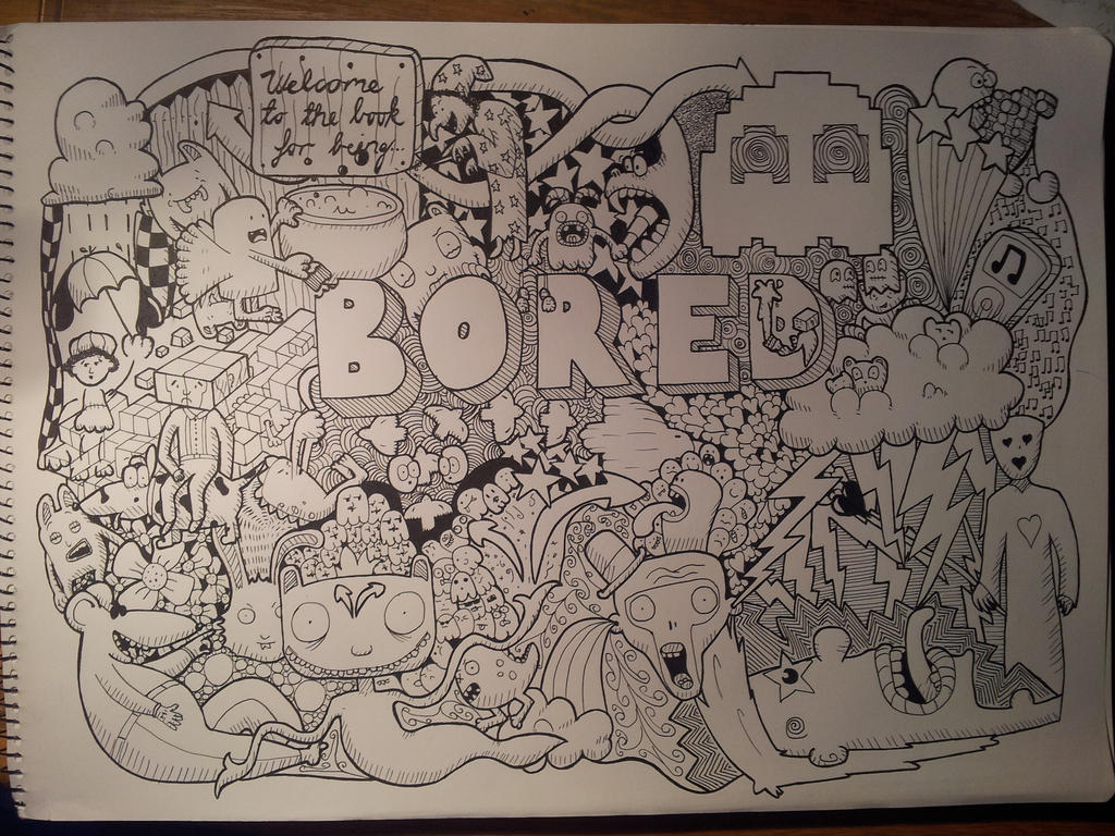 doodle bored by minimojo on deviantart