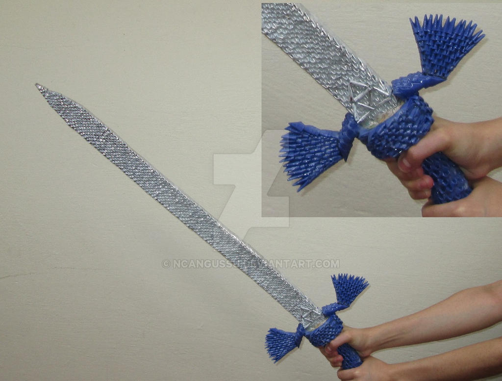 Origami Sword Narsil By Tadashi Mori Minaret123 On Diagrams And Shield Of The Woona Espada Link Zelda 3d Ncangussu Deviantart
