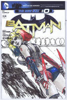 Harley Quinn Sketch cover2 Colors by Danielleister