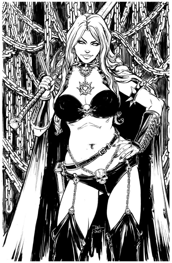 Lady Death bw (nice) by Danielleister