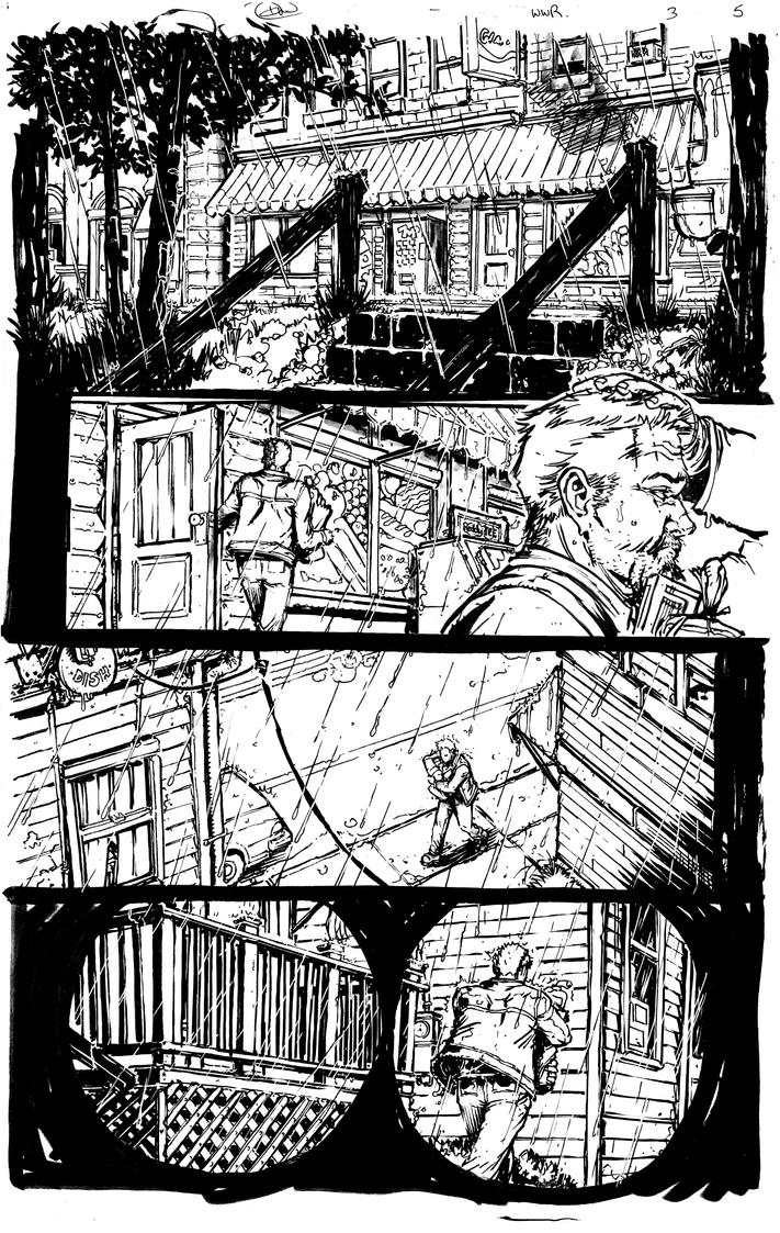 Werewolf Run issue 3 pg 5 BW by Danielleister
