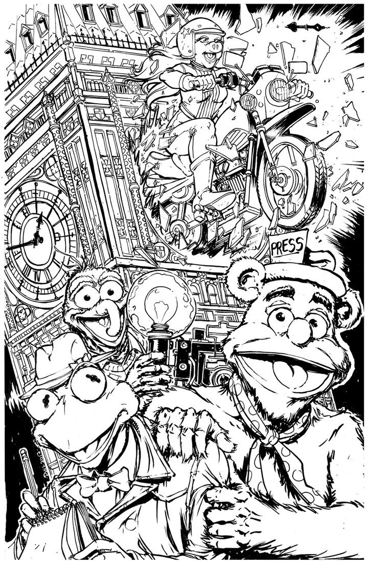 The-Great-Muppet-Caper-inks by Danielleister