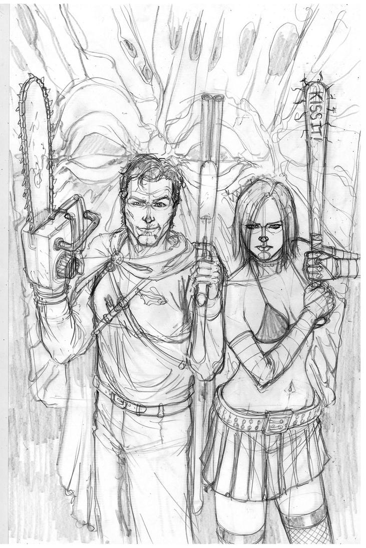 Army of Darkness vs Hack/Ash commission by Danielleister
