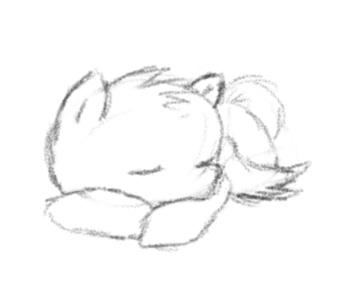 Sleeping Masonpony sketch by masonmouse