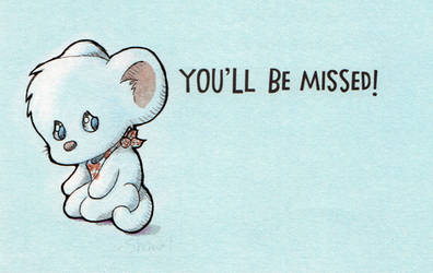 Sad mouse card
