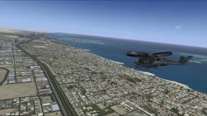 SA-2 Samson over Dubai - FSX