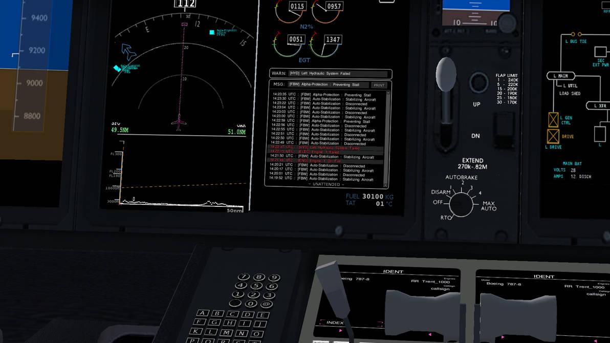 FlightGear Boeing 787 Flight Systems Log by HYPPthe on