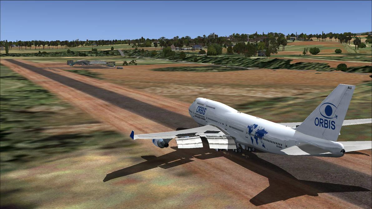 Orbis Flying Eye Hospital arrival in Kenya - FSX by HYPPthe on
