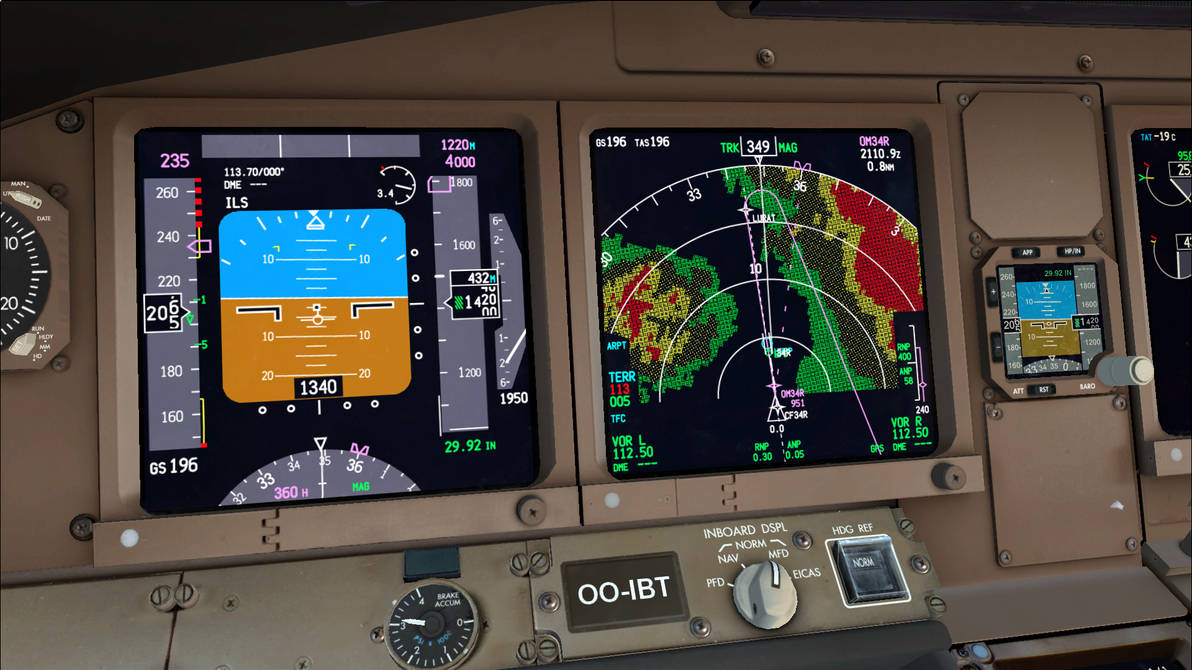 PMDG Boeing 777LRX Navigating the Canyons - FSX by HYPPthe