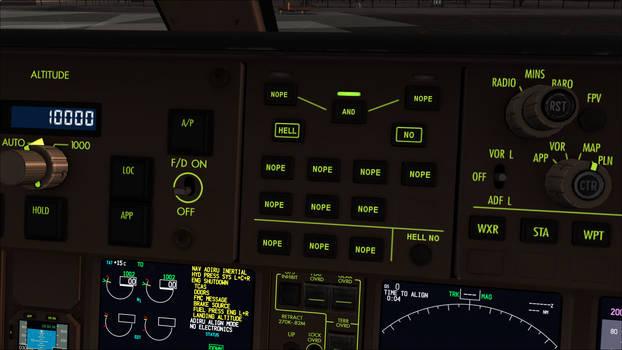 NOPE buttons B777 cockpit mod (dusk backlights)