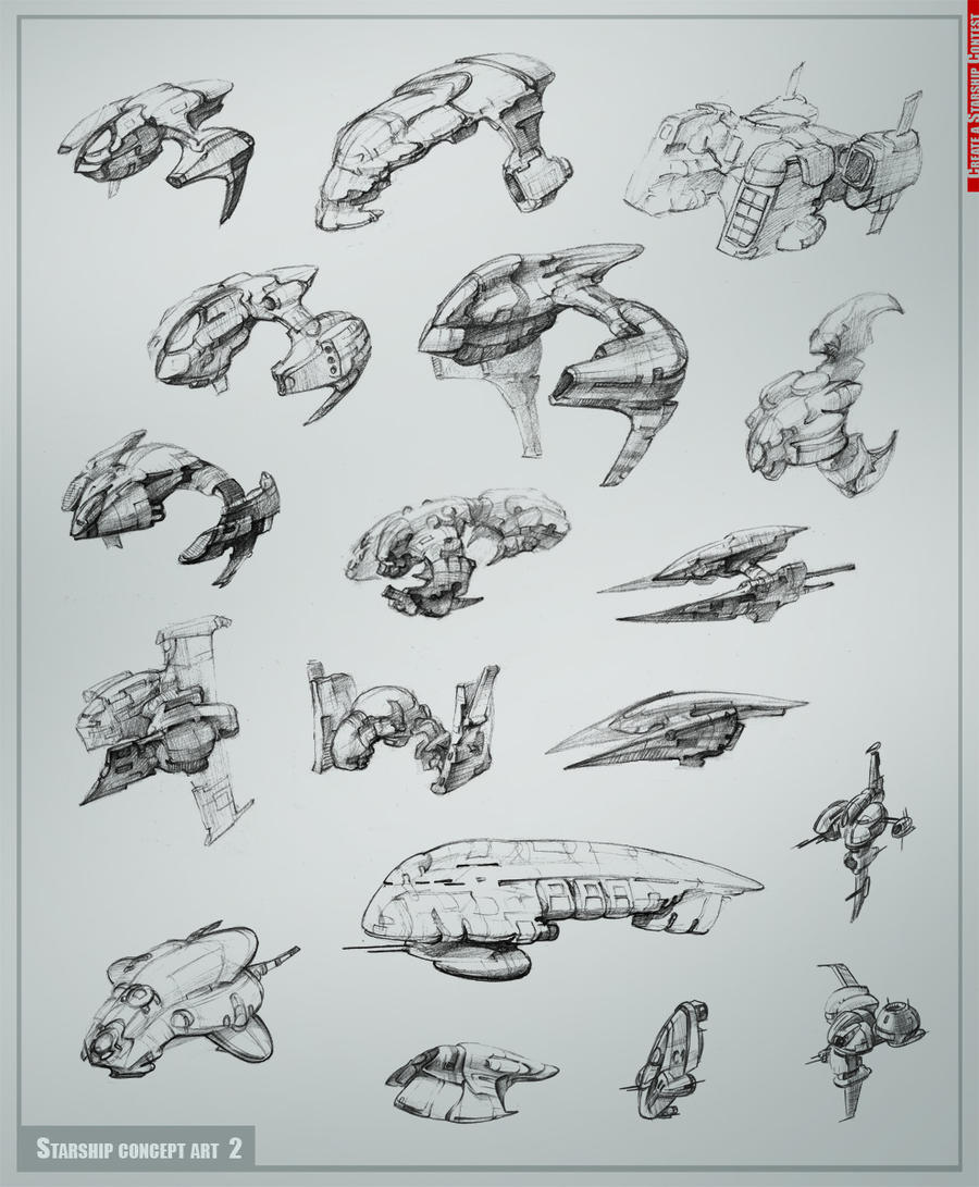 Starship concept art  part2 by Allius