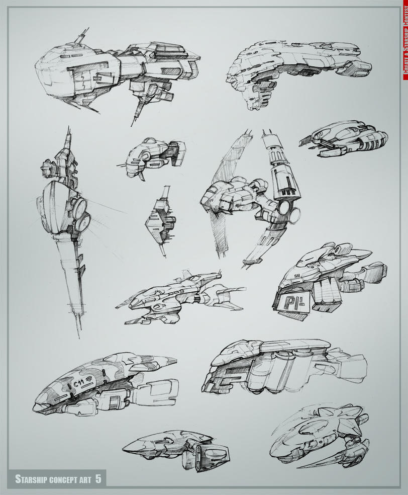 Starship concept art part5 by Allius