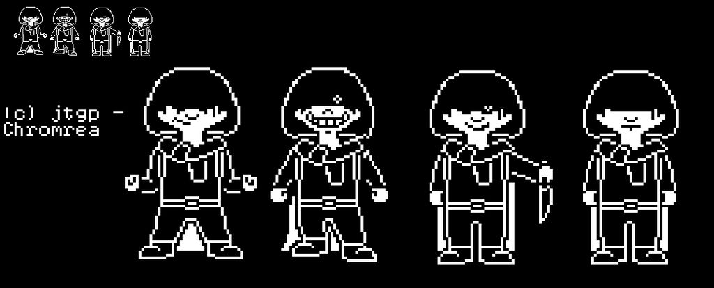 FarShift Antagonism/Disbelief Frisk Battle Sprites by jtgp-of-art on