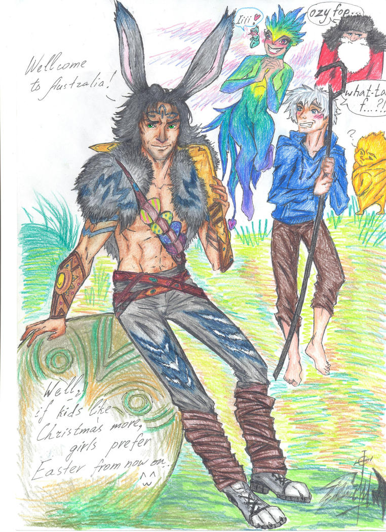 Bunnymund - human version by Nikityavka on DeviantArt for Human Easter Bunny Rise Of The Guardians  181pct