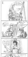 Clumsy apprentice 1 (Arte short fan-comic)