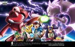 Pokemon- Genesect vs. Mewtwo (Wallpaper)