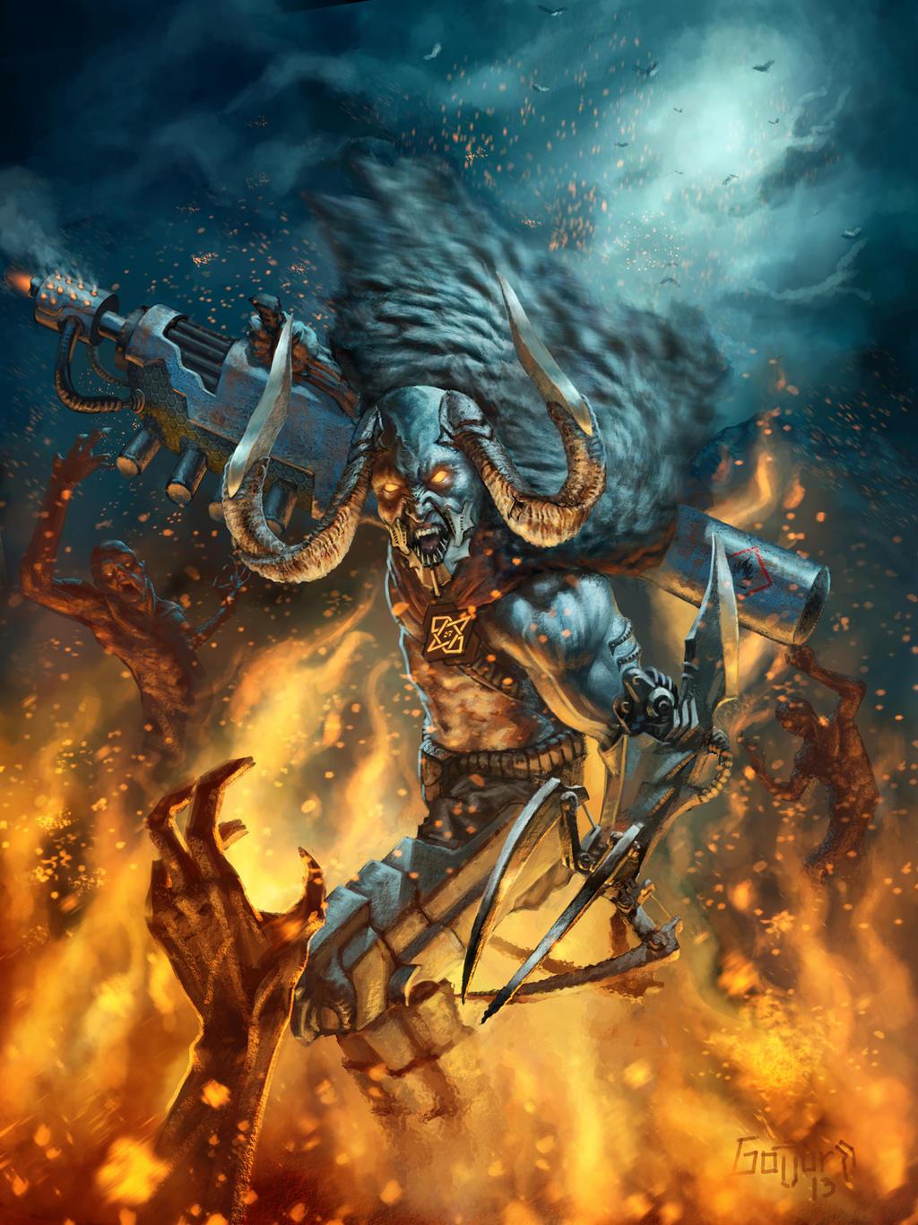 Post Apocalyptic Viking Berserk by Gollorr