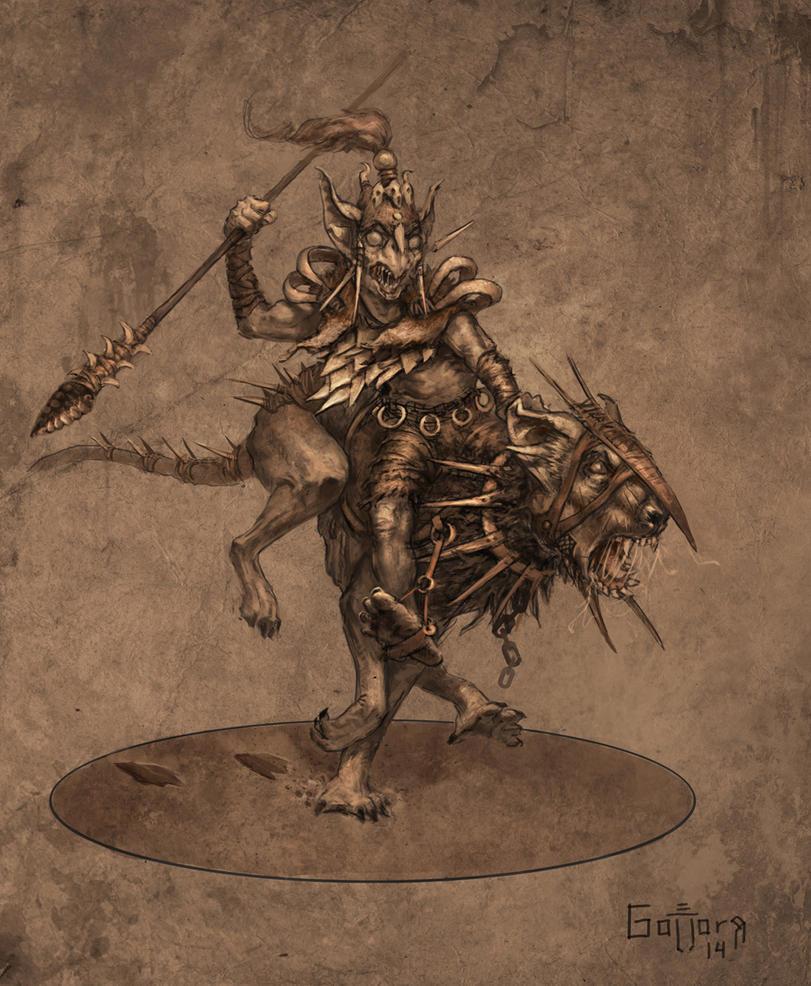 Goblin Wolfrider by Gollorr