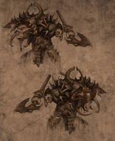 Minotaur Heads by Gollorr