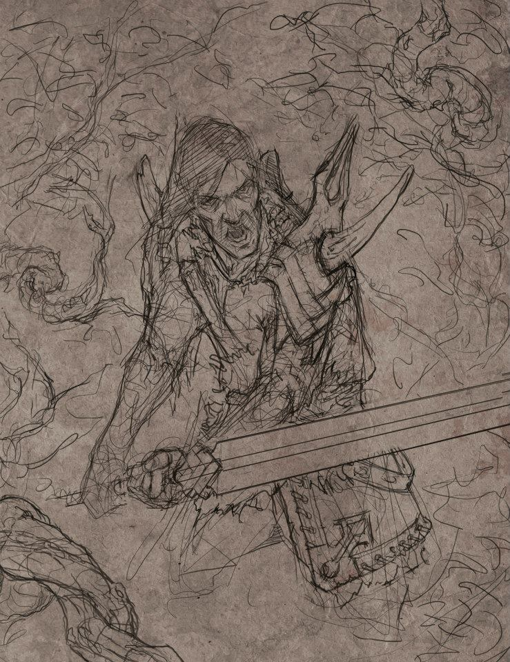 Sketch for Mists of Death by Gollorr