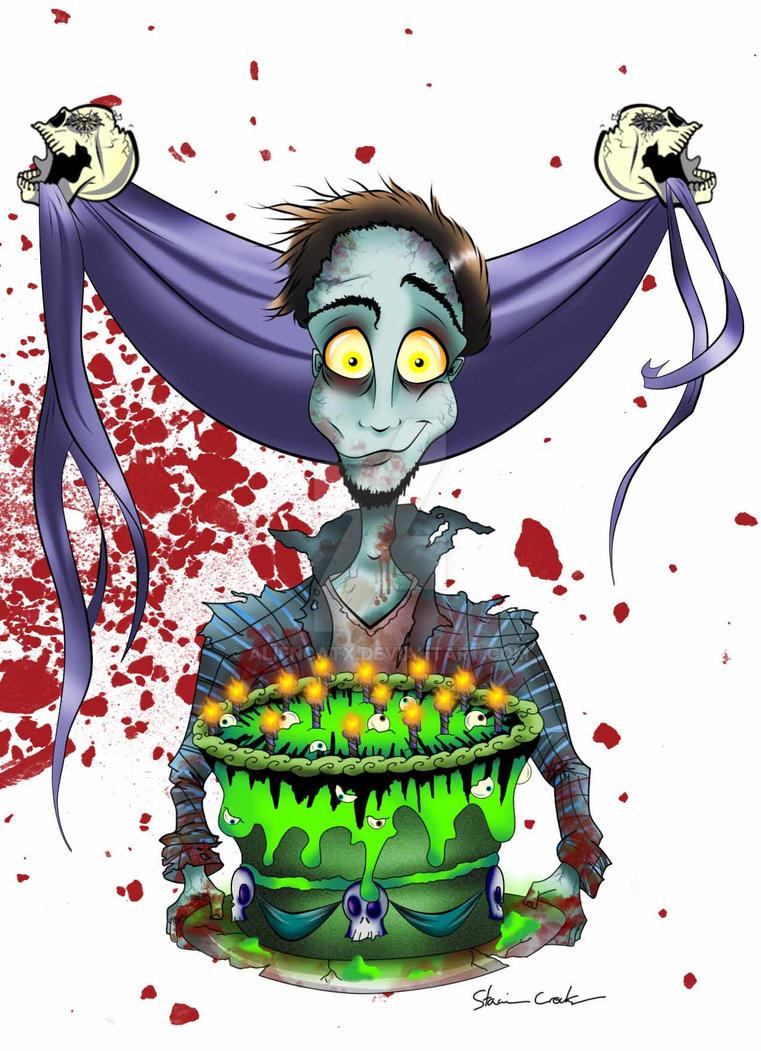 Joey the zombie birthday card by aliencatx on deviantart joey the zombie birthday card by aliencatx bookmarktalkfo Choice Image