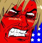 Hetalia America rage face