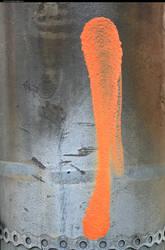Orange paint metal texture by enframed