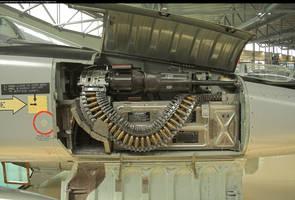Machine gun by enframed