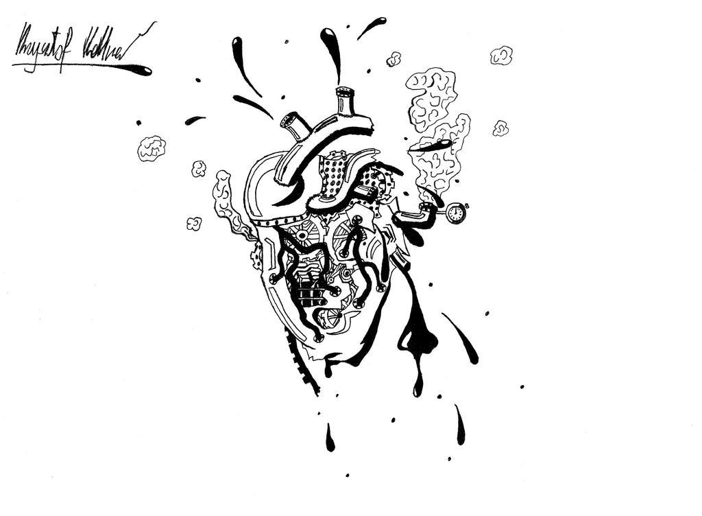Steampunk Heart Drawings Steampunk Heart by Devyyyy
