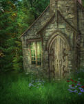 Wood House background by moonchild-lj-stock