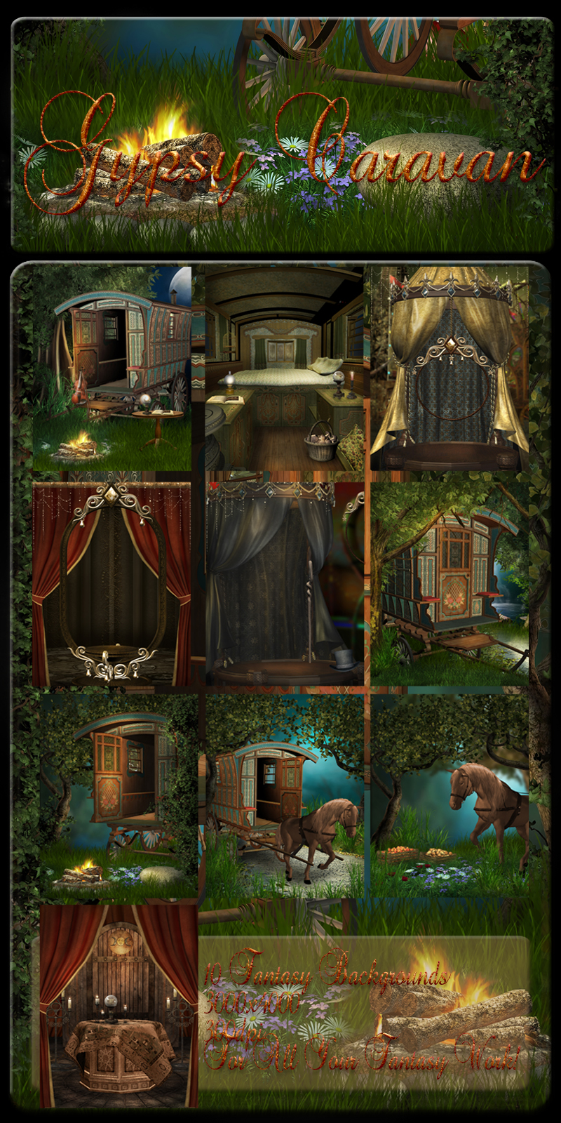 Gypsy Caravan backgrounds by moonchild-lj-stock on DeviantArt