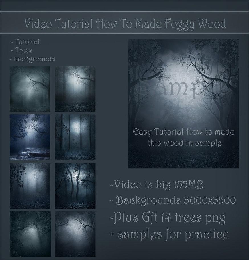 Video tut-made foggy wood by moonchild-lj-stock