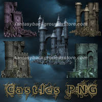 Castle PNG tubes by moonchild-lj-stock