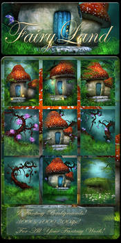 Fairy land backgrounds by moonchild-lj-stock