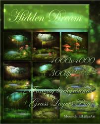 Hidden Dream backgrounds by moonchild-lj-stock