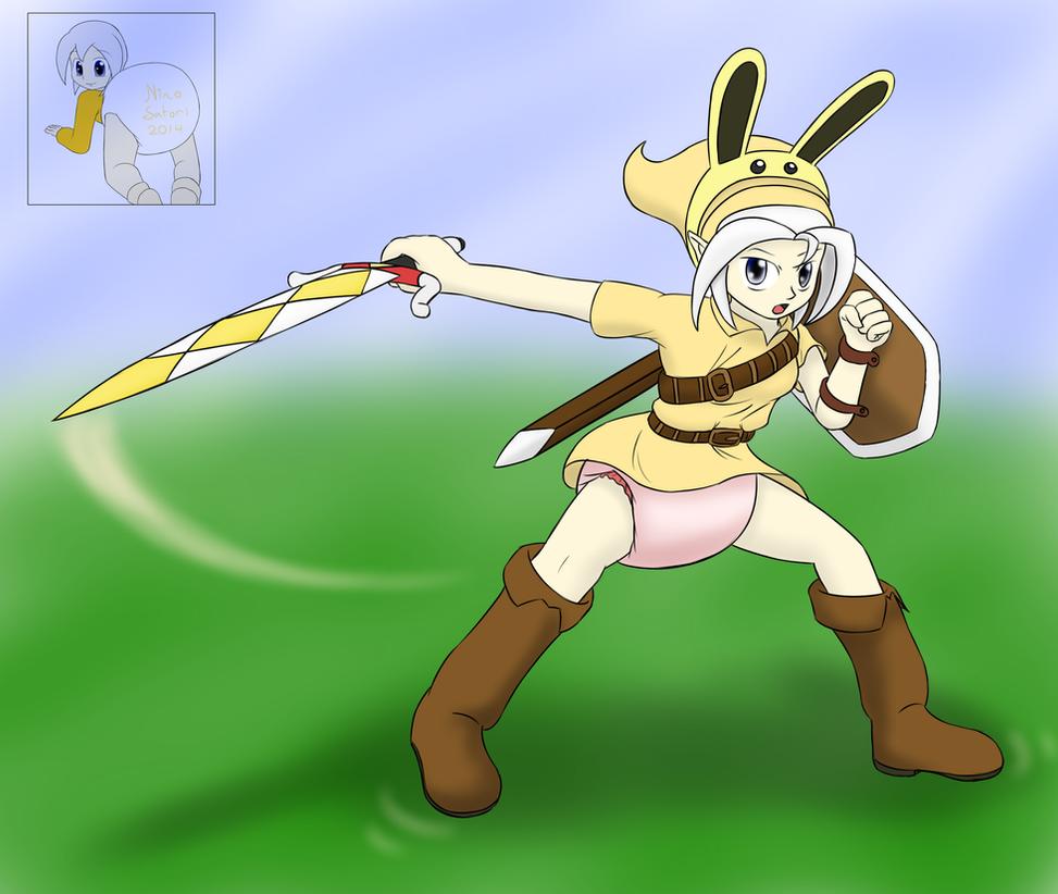 Link Nino: Zelda MM Fan Art [ABDL Warning] by NinoSatori