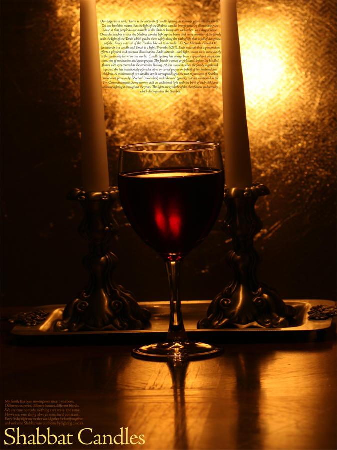 shabbat candles by saicze on deviantart