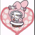 My Melody  love her hello kitty